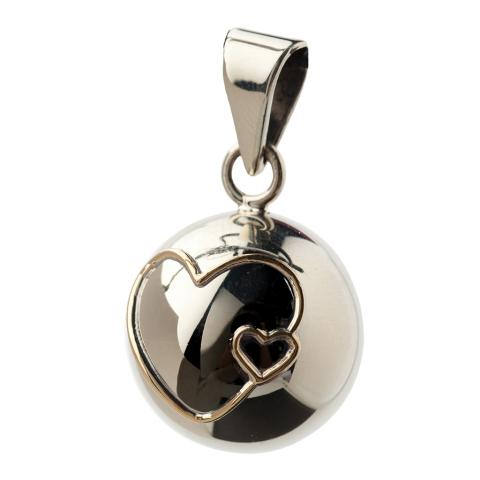 Double Hearts Pregnancy Chime